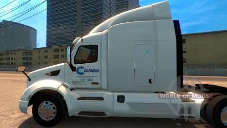 Celadon Trucking скин для Peterbilt 579 для American Truck Simulator