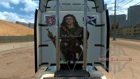 Peterbilt 579 Braveheart Truck Skin для American Truck Simulator