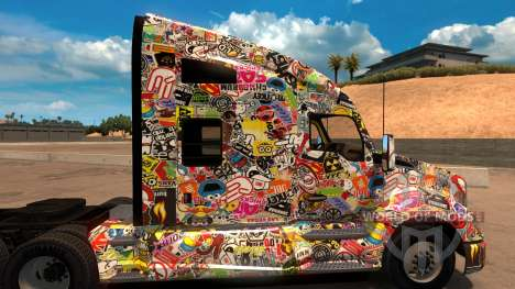 Sticker Bomb скин для Kenworth T680 для American Truck Simulator
