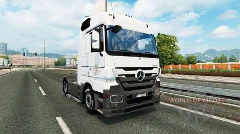 Скин Coppenrath & Wiese на тягач Mercedes-Benz для Euro Truck Simulator 2