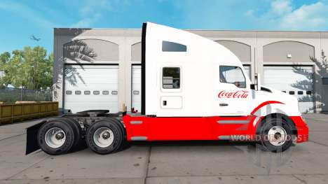 Скин Coca-Cola на тягач Kenworth для American Truck Simulator