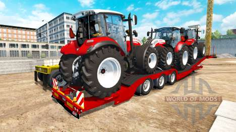 Низкорамный трал Steyr Multi 4115 для American Truck Simulator