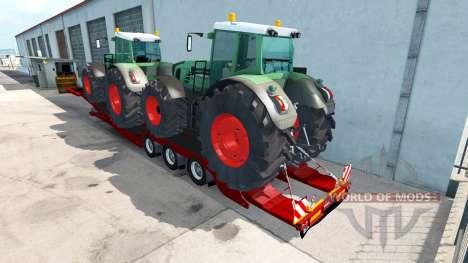 Низкорамный трал Fendt 936 Vario для American Truck Simulator