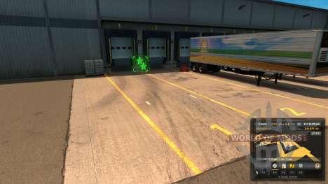 Новая разметка разгрузки Unload Symbol V 1.1 Mod для American Truck Simulator