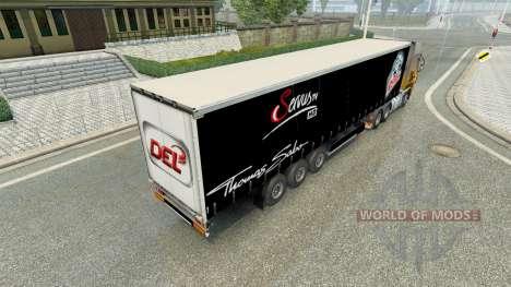 Скин Nuremberg Ice Tigers на полуприцеп для Euro Truck Simulator 2