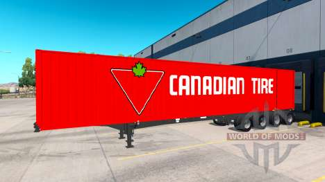 Полуприцеп Container 53 для American Truck Simulator