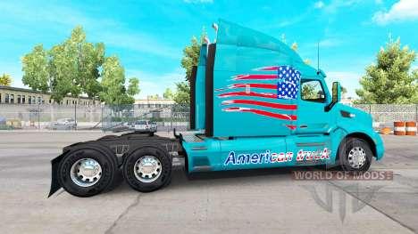 Скин American Truck на тягач Peterbilt для American Truck Simulator