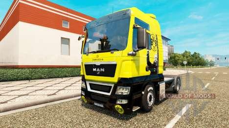 Скин BVB на тягач MAN для Euro Truck Simulator 2