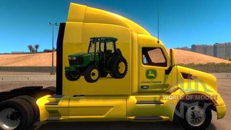 John Deere скин для Peterbilt 579 для American Truck Simulator
