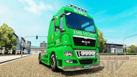 Скин EMS-Vechte на тягач MAN для Euro Truck Simulator 2