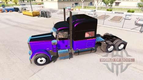 Скины Metallic на тягач Peterbilt 389 для American Truck Simulator