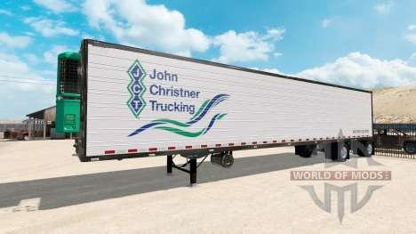 Двухосный полуприцеп Great Dane Spread Axle для American Truck Simulator