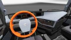 Клетчатый интерьер Volvo FH