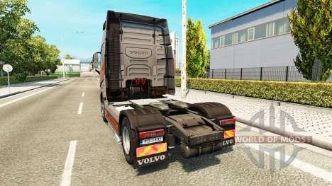 Скин Silver Transports на тягач Volvo для Euro Truck Simulator 2