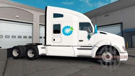 Скин Amerigroup на тягач Kenworth для American Truck Simulator