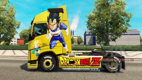 Скин Dragon Ball Z на тягач Volvo для Euro Truck Simulator 2