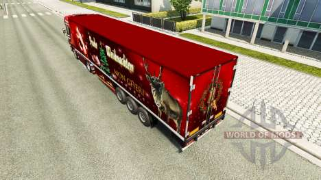 Скин Christmas на тягач Scania для Euro Truck Simulator 2