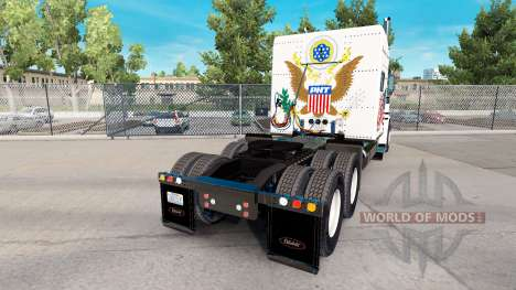Скин Powerhouse Transport на тягач Peterbilt 389 для American Truck Simulator