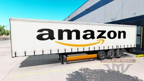 Скин Amazon на полуприцеп для American Truck Simulator