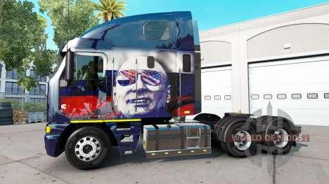 Скин Путин на тягач Freightliner Argosy для American Truck Simulator