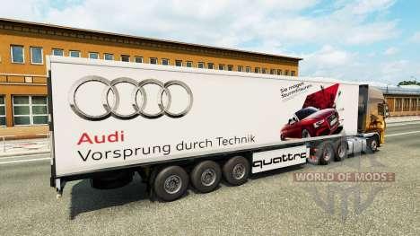 Скин Audi на полуприцеп для Euro Truck Simulator 2