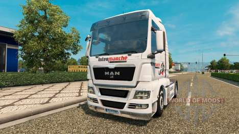 Скин Intermarket на тягач MAN для Euro Truck Simulator 2