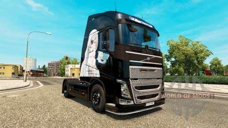 Скин Infinite Stratos на тягач Volvo для Euro Truck Simulator 2