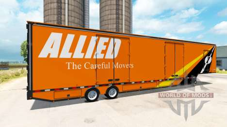 Полуприцеп RD Moving Van для American Truck Simulator