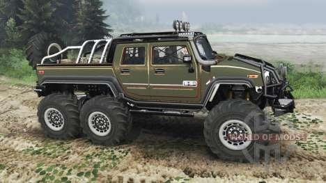 Hummer H2 6x6 [diesel][03.03.16] для Spin Tires