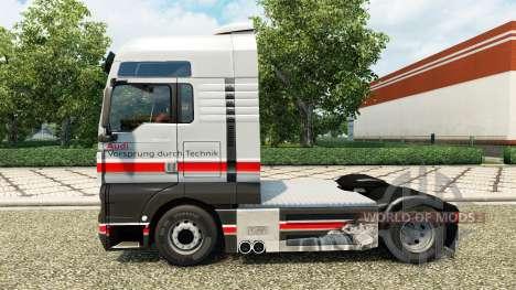 Скин Audi на тягач MAN для Euro Truck Simulator 2