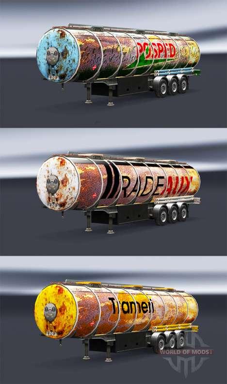 Скины Rusty на полуприцепы для Euro Truck Simulator 2