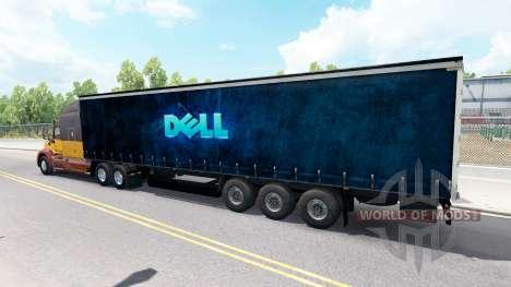 Скин Dell на полуприцеп для American Truck Simulator