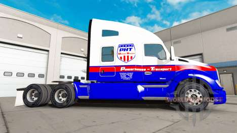 Скин Powerhouse Transport на тягач Kenworth для American Truck Simulator