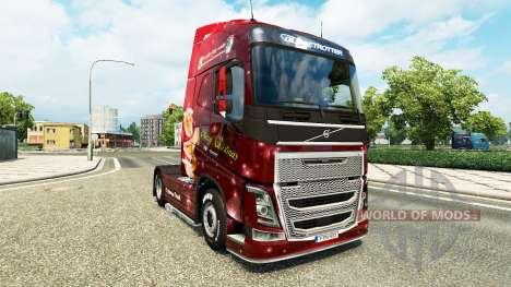 Скин Christmas на тягач Volvo для Euro Truck Simulator 2