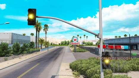 Продолжительные жёлтые огни светофора для American Truck Simulator
