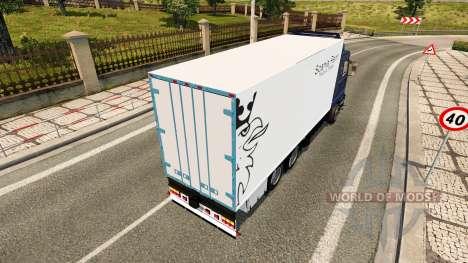 Скин Scania Rent на Scania 143M BDF для Euro Truck Simulator 2