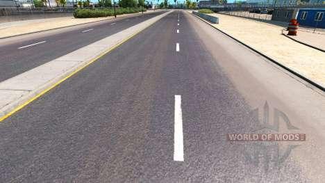 Улучшенная дорожная разметка для American Truck Simulator