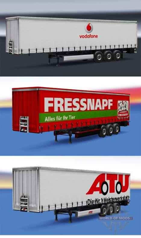 Сборник скинов на полуприцепы v1.0 для Euro Truck Simulator 2