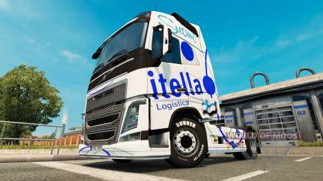 Скин Itella на тягач Volvo для Euro Truck Simulator 2