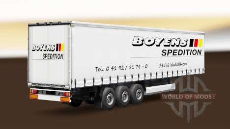 Скин Boyens v1.1 на полуприцеп для Euro Truck Simulator 2