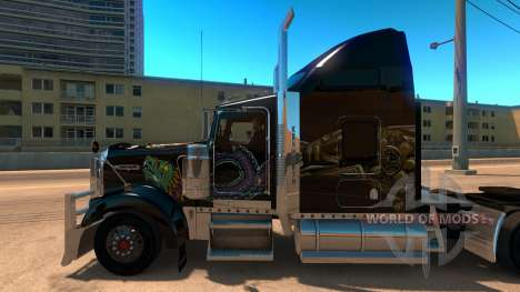Kenworth W900 Mexico Skin v 2.0 для American Truck Simulator