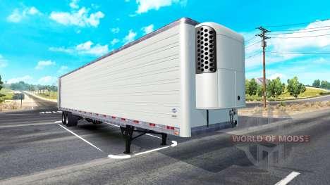Длинный рефрижераторный полуприцеп для American Truck Simulator
