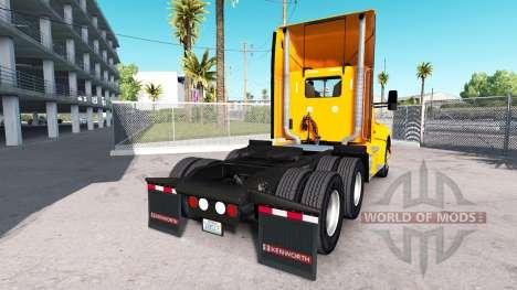 Скин Yellow Corp. на тягач Kenworth для American Truck Simulator