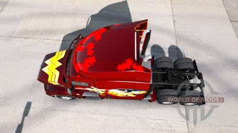 Скин Wonder Woman на тягач Peterbilt для American Truck Simulator