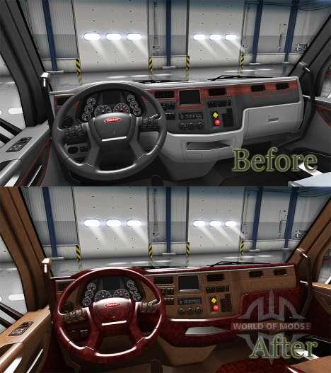 Люксовый интерьер Peterbilt 579 для American Truck Simulator