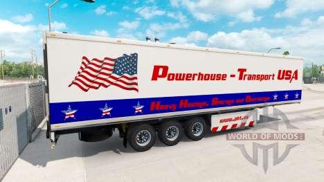 Полуприцеп Powerhouse Transport USA для American Truck Simulator