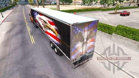Скин American eagle на полуприцеп для American Truck Simulator