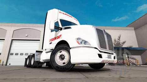 Скин Cook Out на тягач Kenworth для American Truck Simulator