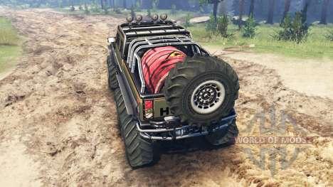 Hummer H2 6x6 для Spin Tires