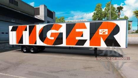Скин Tiger на полуприцеп для American Truck Simulator